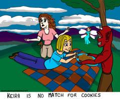 Kiera VS Cookies by DungeonWarden