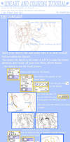 lineart and coloring tutorial by Saphirya