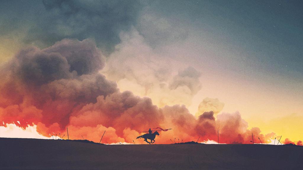 Field of Fire by maxbeechcreative