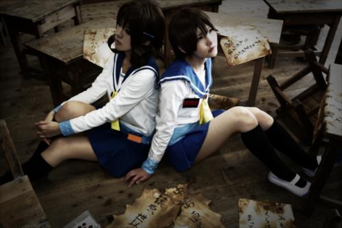 Corpse Party - Cosplay of Naomi and Seiko by Mayuri-Shinohana