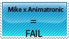 Anti Mike x Animatronic stamp by Ninja-Froggy