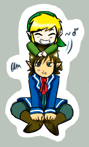 **F.C de Zelda** Link_and_Linebeck_by_MitsukoUchiha