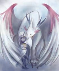 Silver Dragon by MitsukoUchiha
