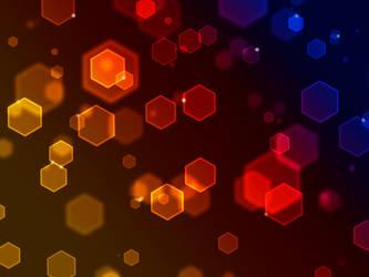 Sunset hexagon by Luismi13