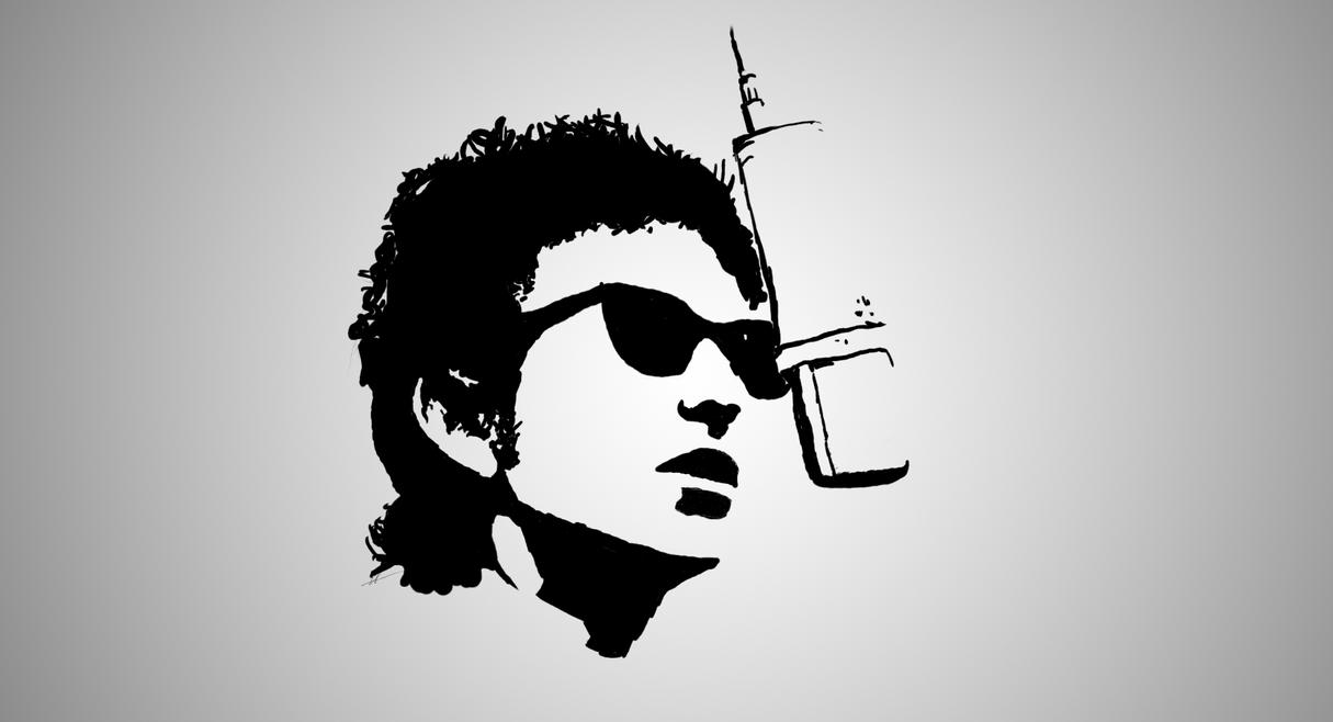Bob Dylan stencil by ickhugo