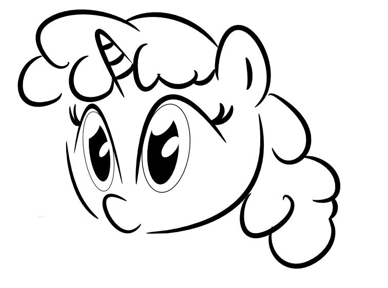MLP Unicorn Outline By MirandaThePanda