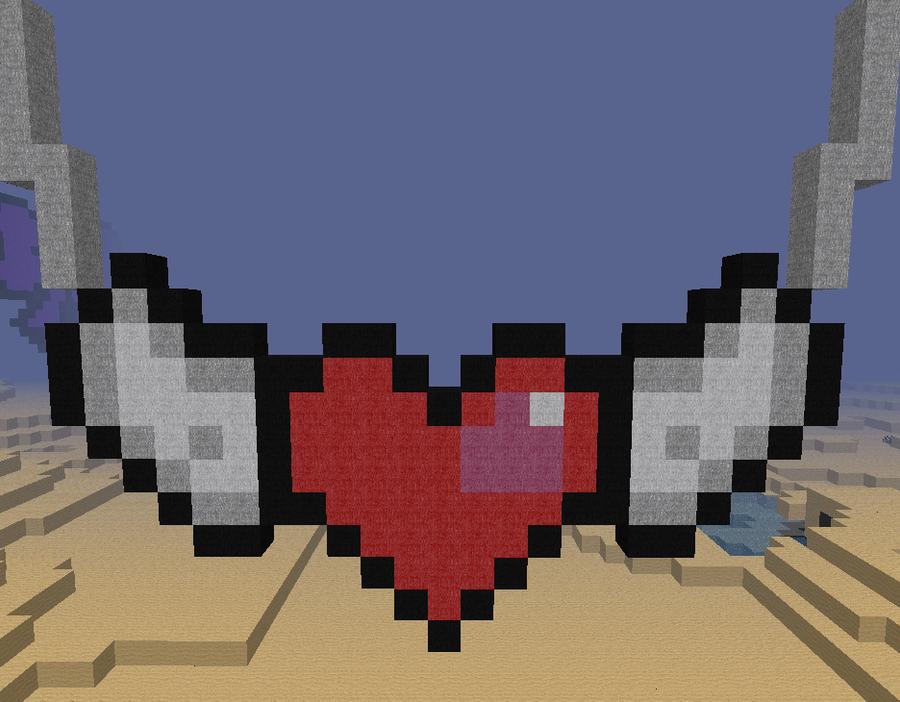 Сердце в майнкрафте из блоков