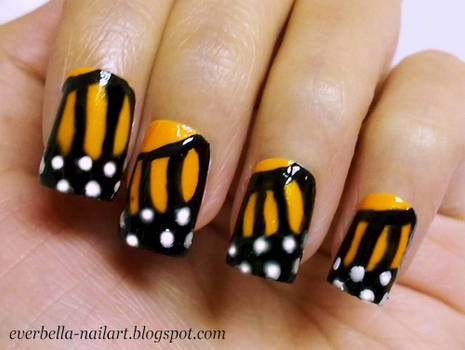 cutepolish inspired Butterfly Nail Art Design