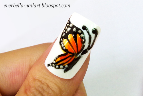 Hand painted butterfly nail art design by everbella on deviantart hand painted butterfly nail art design by everbella prinsesfo Choice Image