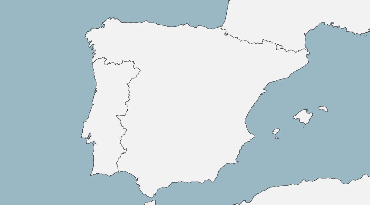 Blank Map Of The Iberian Peninsula by TheGreatLocust on DeviantArt