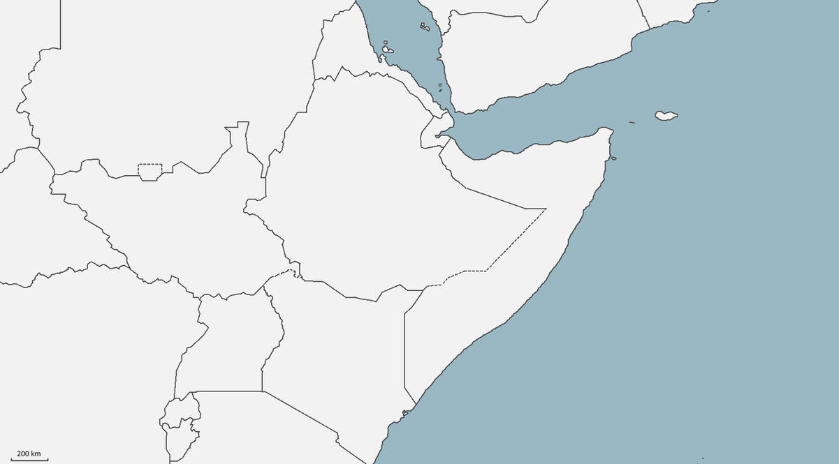 Map Of Africa Blank.Blank Map Of The Horn Of Africa By Thegreatlocust On Deviantart