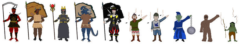 Heroes of Might and Magic III Flag Bearers by IlyaNevelny