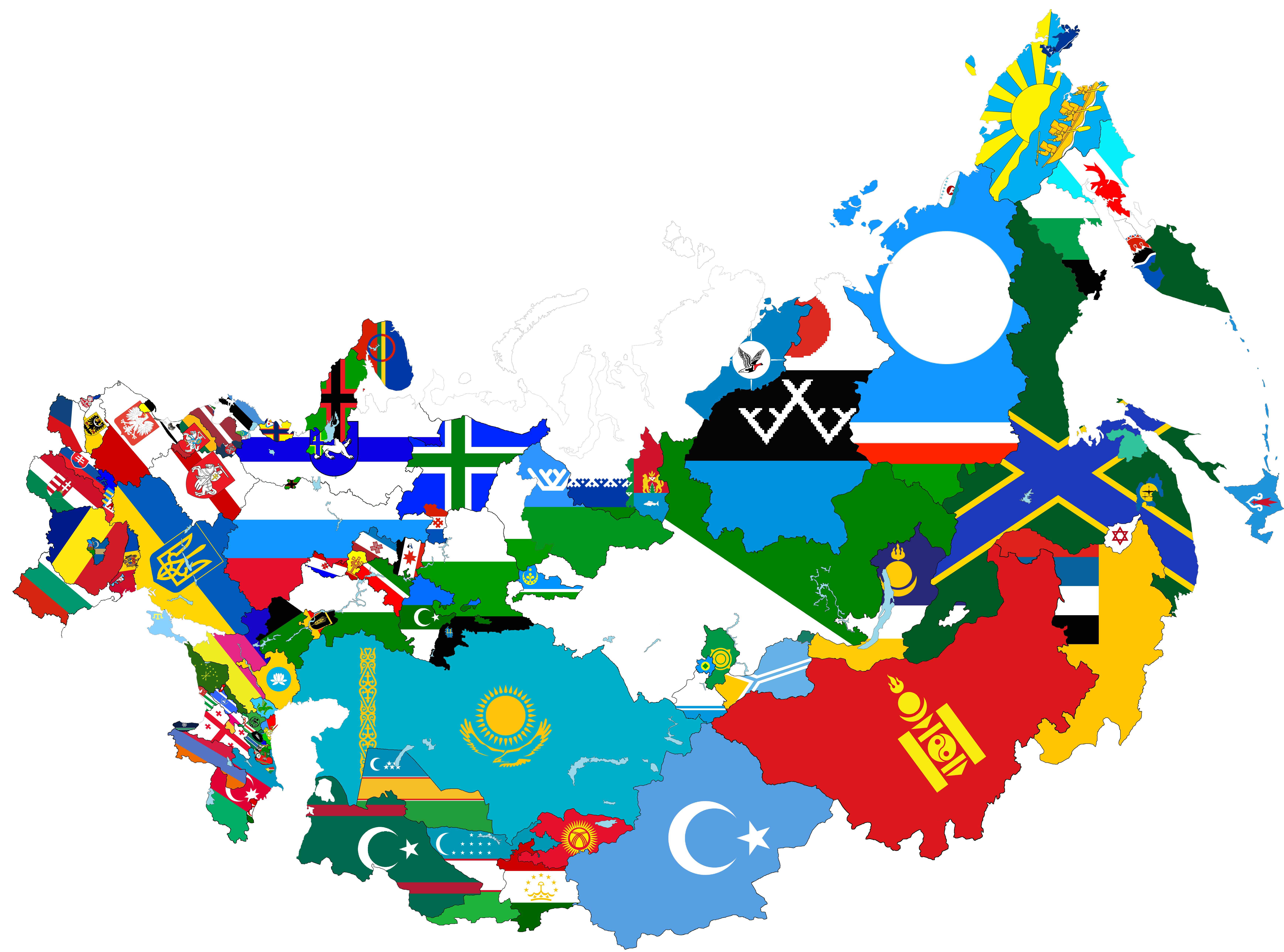 Ethnic Map Of Russia Ethnic map of Russia and post Soviet countries by IlyaNevelny on
