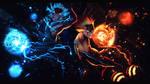 Deku and Bakugo - Heroes Rising by xBlakeKing
