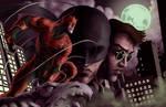 Daredevil Netflix colored by Elyzius