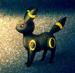 Umbreon in the snowy evening by Hot-dog-cat