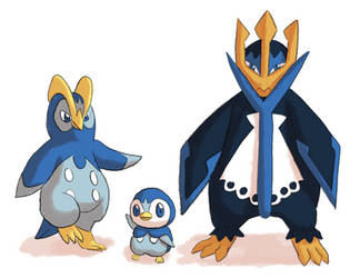 Piplup Prinplup Empoleon by Hot-dog-cat