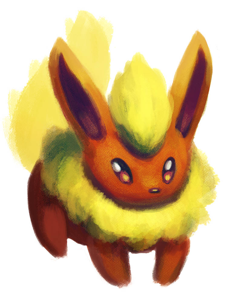 Quick Flareon painting by Hot-dog-cat