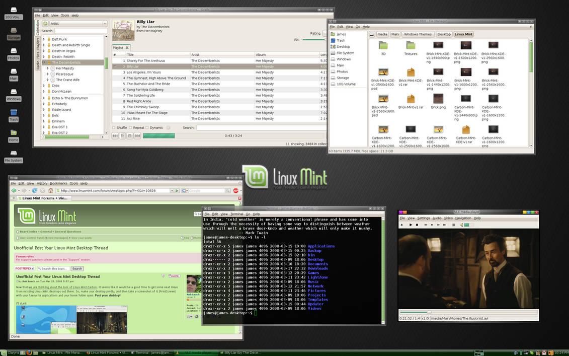 Linux Mint 4 0 XFCE CE Desktop by jernau on DeviantArt