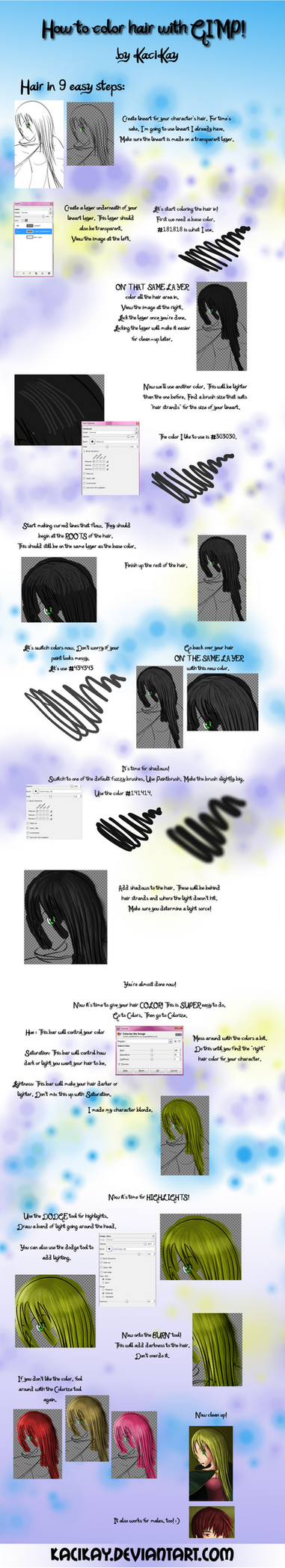 How to Color Hair Tutorial by KaciKay