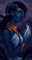 Commission - Tiefling sorcerer