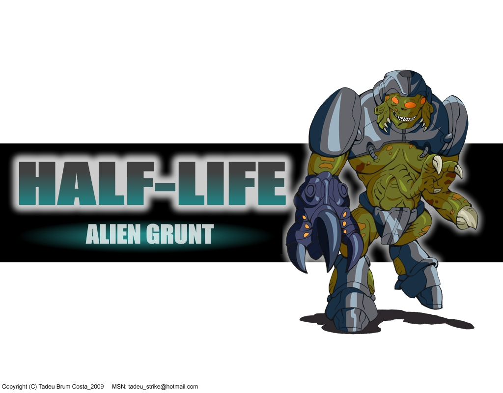 Alien Grunt from Half-Life - Wallpaper by Tadeu-Costa on ...