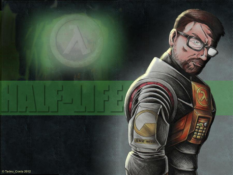 Half-Life - Gordon Freeman by Tadeu-Costa
