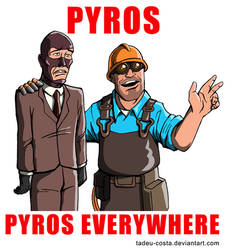 Team Fortress 2 - Pyros, Pyros Everywhere by Tadeu-Costa