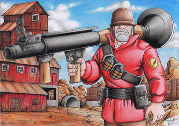 Team Fortress 2 - Soldier by Tadeu-Costa