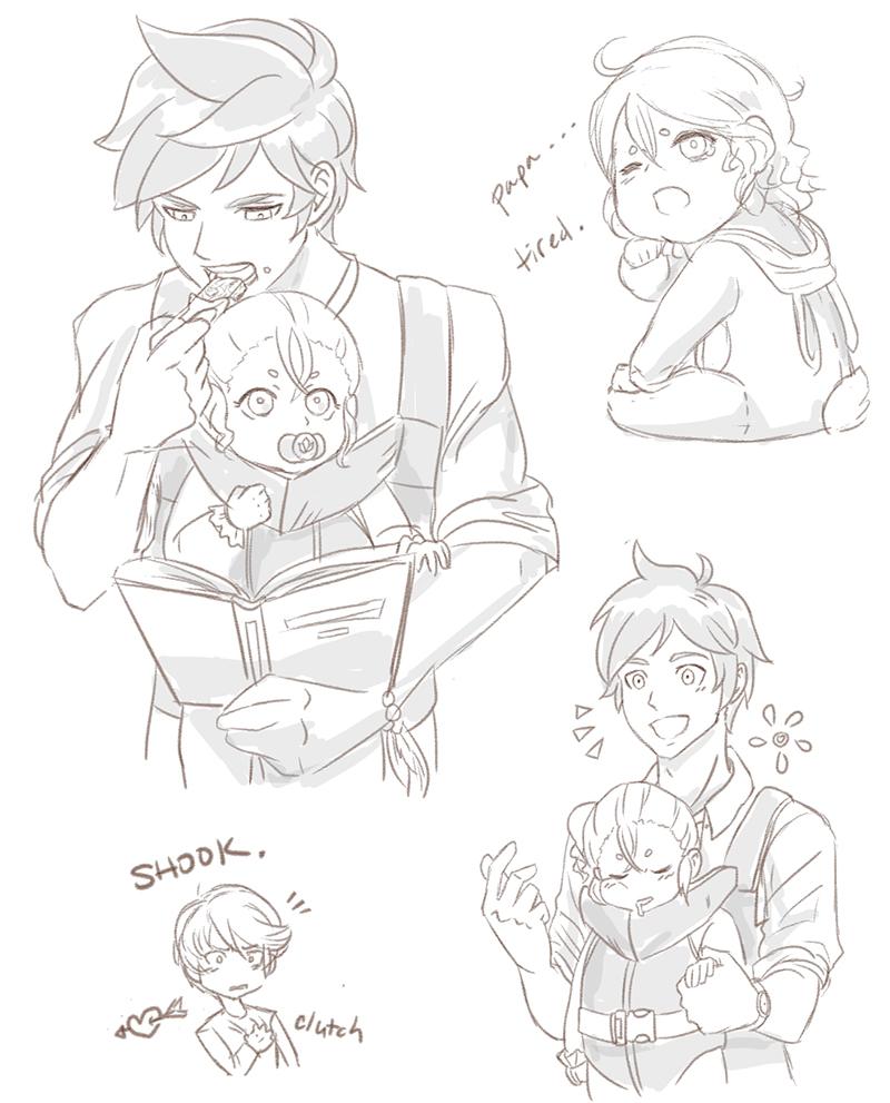Papa Sorey Doodles by BleachcakeCosplay