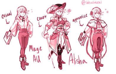 Mage Au Chara Chart - Alisha by BleachcakeCosplay