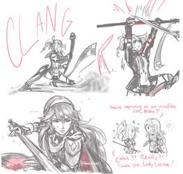 Lucina and Alisha Spar Doodles by BleachcakeCosplay