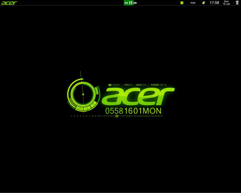Acer Toxic Green Desktop By Black Lizard On Deviantart