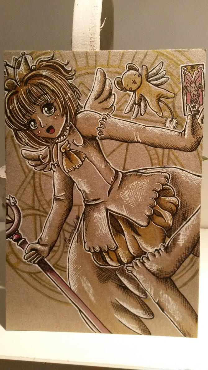 Sakura Kinomoto by moonshadebutterfly