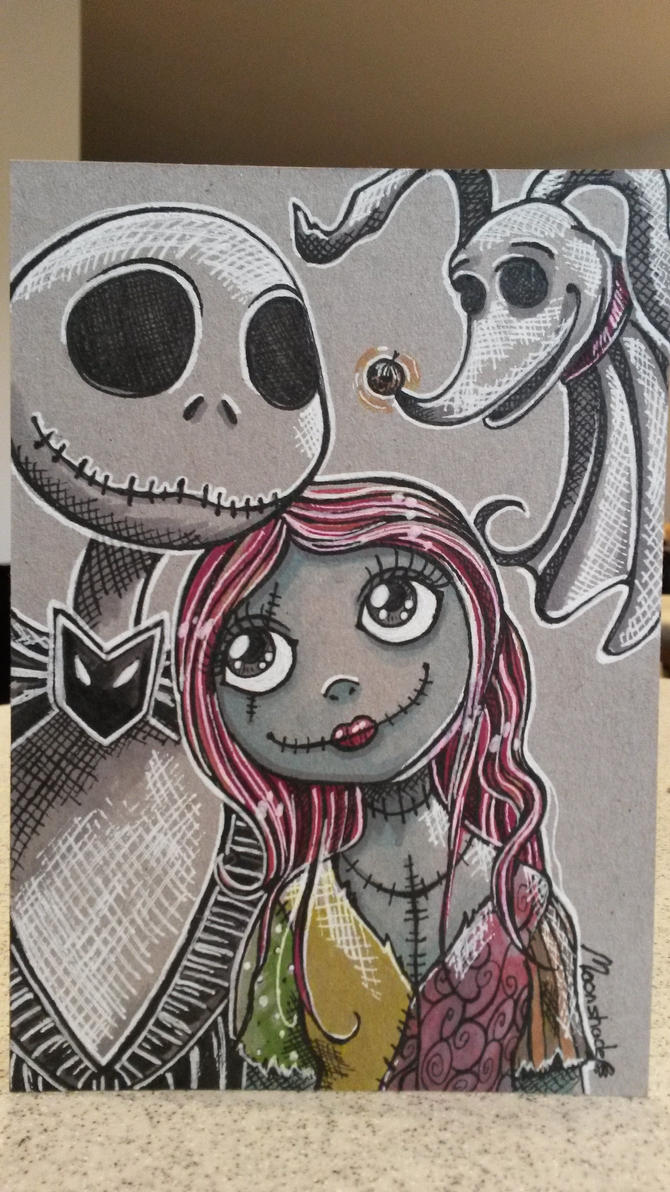 Jack, Sally and Zero by moonshadebutterfly on DeviantArt
