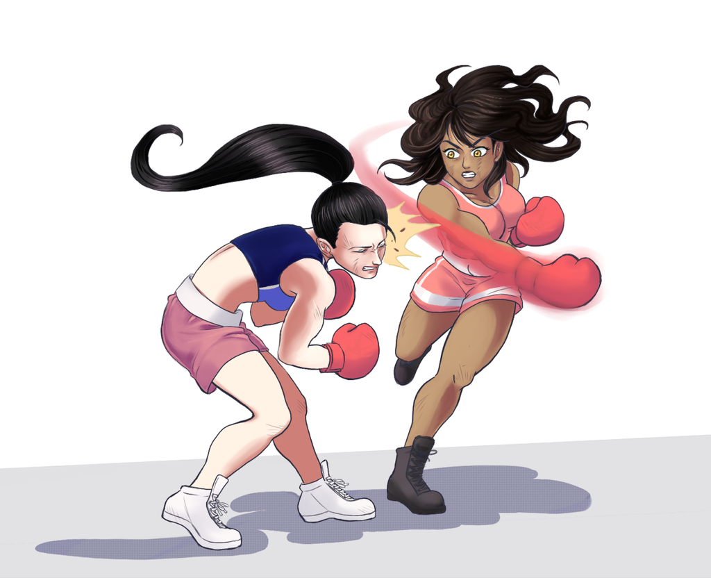 Manju lands a nasty right hook on Sara (Fruichie) by ballionaire