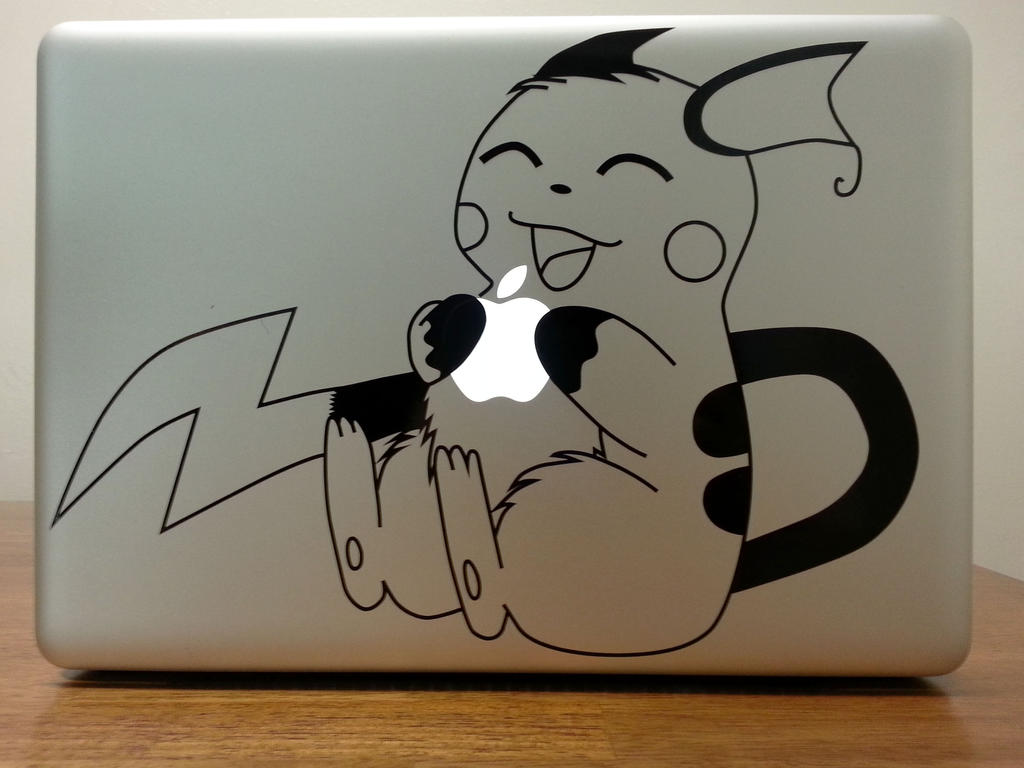 Raichu MacBook Pro Decal by chinchillax