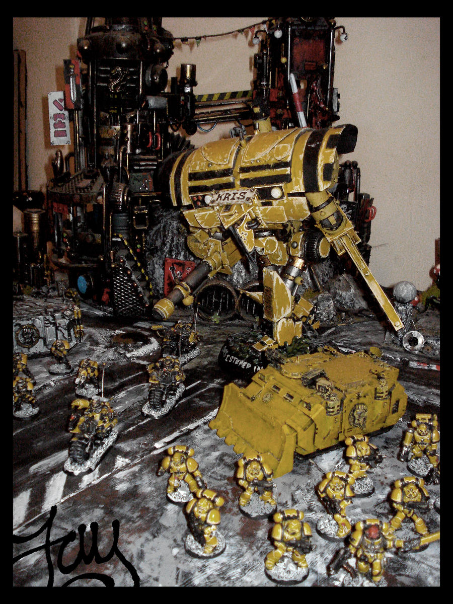 Imperial Knight Supports Imperial Fists by JDHerring