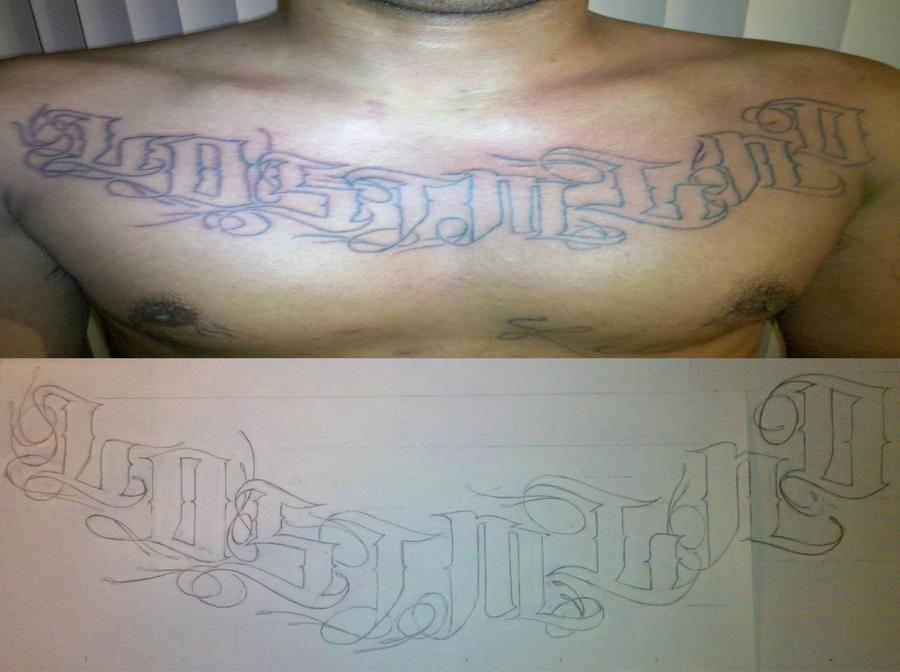 BIG BRO chest tat- My 3rd - chest tattoo