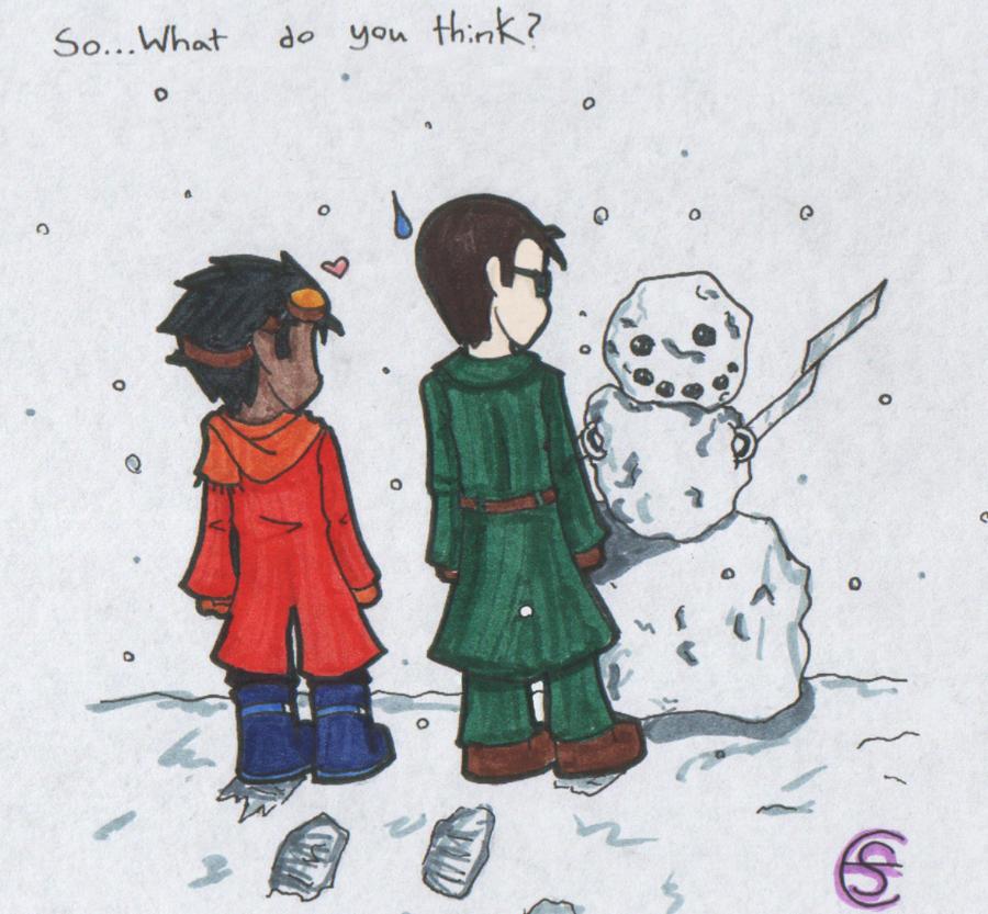 GR: Rex made a snowman 8D by zomeis
