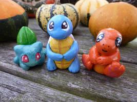 The Pokemon Starters- I Choose You! by SakuraSculpture