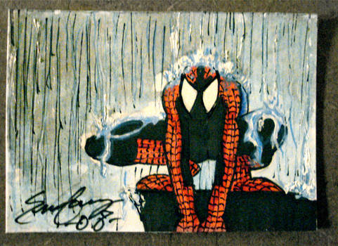 Spiderman Sketch Card
