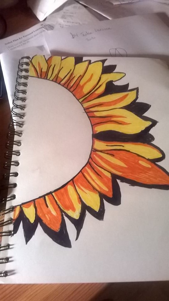 Sunflower unfinshed middle by Samantha-Bartlett