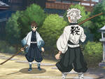 {KNY} Shirahime VS. Sanemi - Training time~