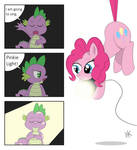 It's Spike's big moment. And Pinkie helps.