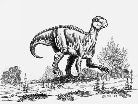 Iguanodon-bernissartensis'-A