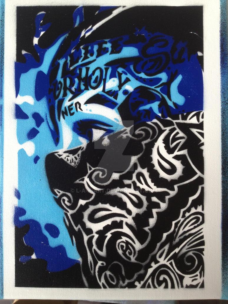 bandana in blue by L-A-K-ART