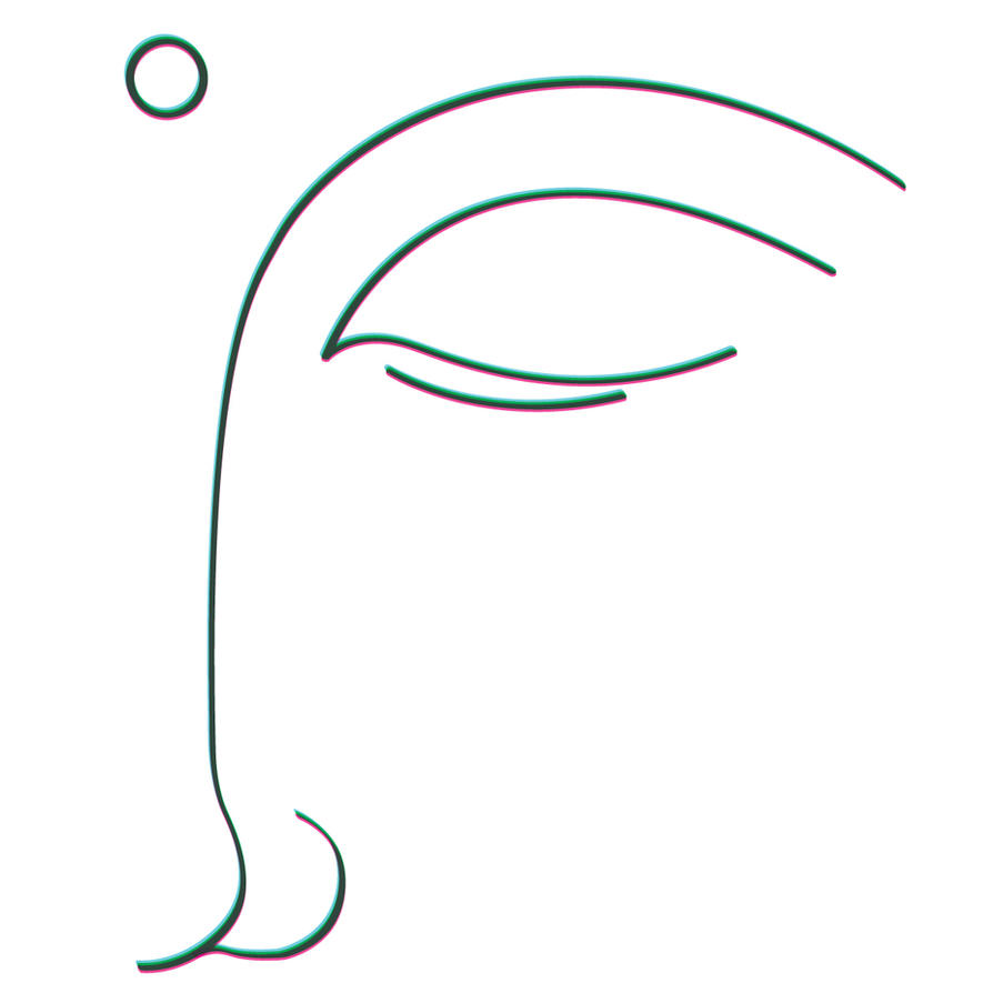 Buddha Face Line Drawing : A corner of buddha face by redgoat on deviantart