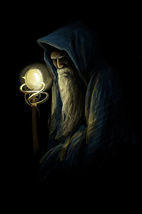 Druid- cowled