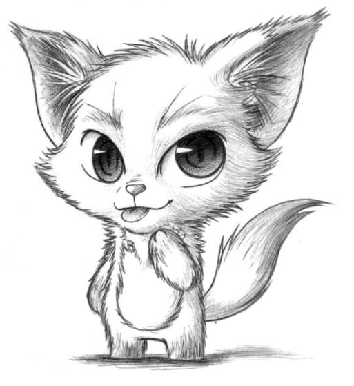 Картинки лисы нарисованные
